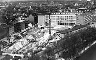 historical photograph of the building of the Munich DPMA headquarters