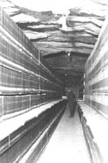 Historic picture of storage of the patent office library in Heringen