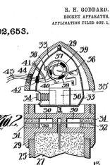 """""""Rocket apparatus"""" von Robert Goddard, 1913 (US1102653A)"""