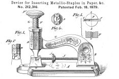 Drawing from a patent documents from 1879
