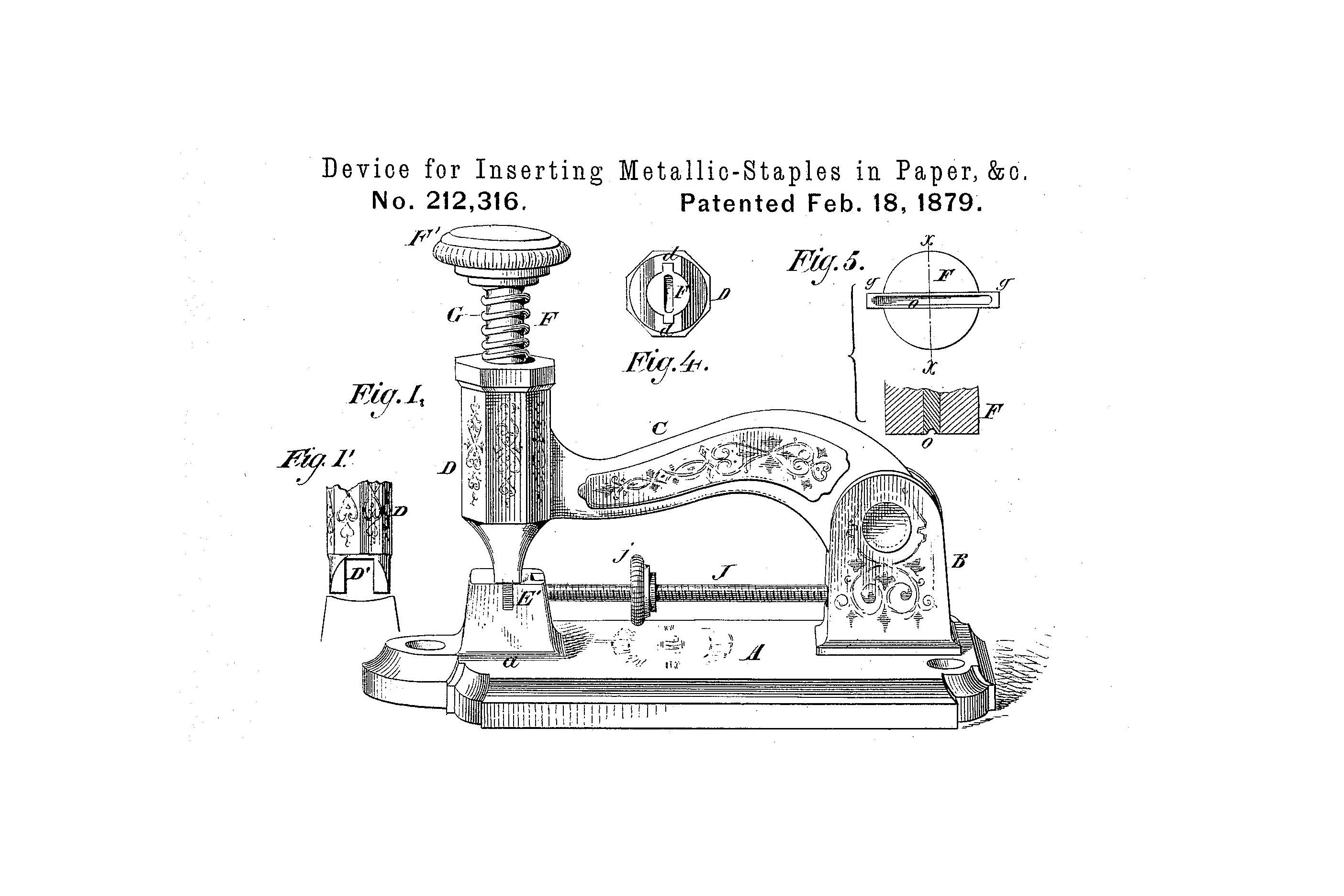 Drawing from patent document, 1879