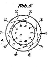 Drawing of an Enigma rotor from patent DE425147