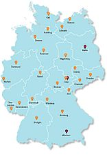 Map of Patent Information Centres in Germany