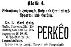 Picture of Perkêo, first trade mark