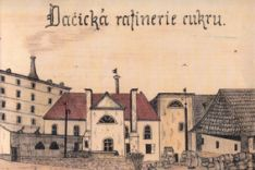 The sugar factory at Datschitz (Dačice) that Jakob Christoph Rad headed 1840-46