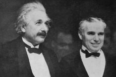 Albertt Einstein and Charlie Chaplin