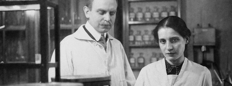 Otto Hahn and Lise Meitner in their lab