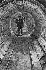 Drawing: The Tower Subway tube as a pedestrian tunnel,