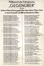 "Farina warns against abuse of adress ""gegenüber"", 1925"