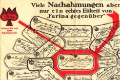 """Farina gegenüber"" warns against imitations, 1926"