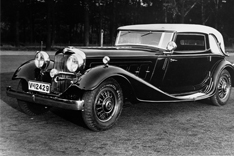 Horch 670 Sport Cabriolet, featuring 12 cylinders and 120 HP. Only 58 of these were built.