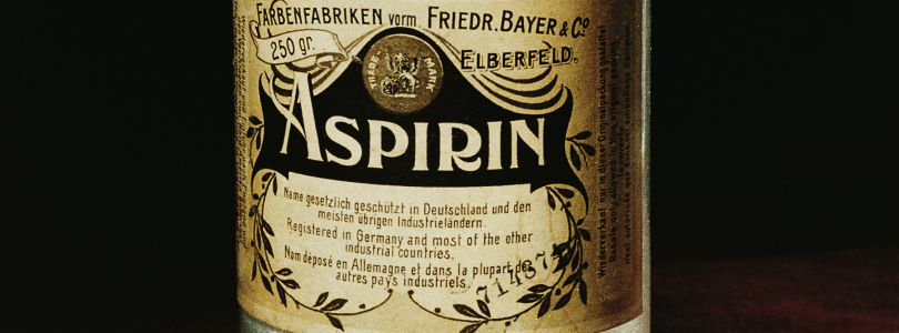 Aspirin bottle, 1899