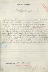 Felix Hoffmann´s laboratory log, entry of 10.8.1897