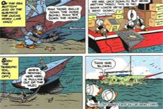 Rasising a sunken ship with plastic ball: Carl Barks' virlliant idea in his 1949 comic strip